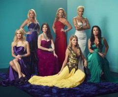 THE REAL HOUSEWIVES OF BEVERLY HILLS -- Season:7 -- Pictured: (L-R) Taylor Armstrong, Kim Richards, Lisa Vanderpump, Adrienne Maloof, Brandi Glanville, Yolanda Hadid, Kyle Richards, and Camille Grammer -- (Photo by: Joe Pugliese/Bravo)