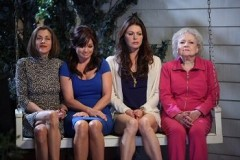 L-R: Wendie Malick, Valerie Bertinelli, Jane Leeves, and Betty White