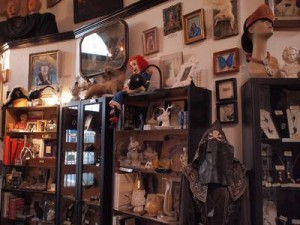 Collection of oddities along Loved to Death's wall.