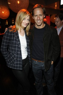 Judy Greer and Nat Faxon, who play Lina and Russ Bowman onMarried at the FX 2014 Upfront party.  (Photo by Jeff Neira for FX)