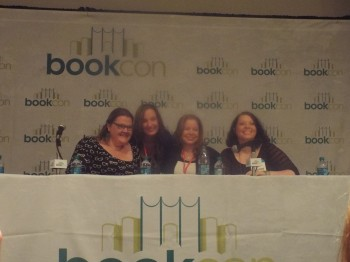 Pic from left: Sara MacLean, Jennifer L. Armentrout, Jeaniene Frost, Cora Cormack