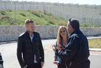 """Breaking Borders - Voltaggio and van Zeller talking with their Palestinian """"fixer"""" and guide"""