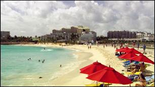"Maho Beach, St. Maarten, as featured in ""101 Sand n' Surf Hotspots"""
