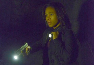 Abbie, you need more than a flashlight to scare of those cannibals.