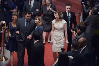 Ryan walks the red carpet with the congressman, his wife, and Carolyn.