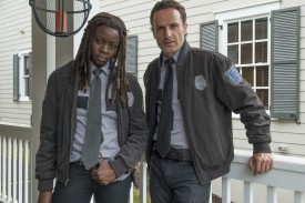 Sheriff Grimes and Deputy Michonne reporting for duty.