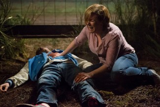 The anguish Beverly feels seeing her son Peter lying on the ground is heartbreaking.