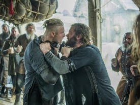 Bjorn (Ludwig) does what he needs to protect Rollo (Standen), even if it means getting into a fight.