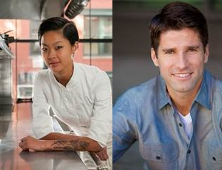 """""""36 Hours"""" Co-Hosts Kristen Kish and Kyle Martino"""