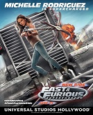 """FIRST LOOK! Action Image of Michelle Rodriguez in """"Fast & Furious-Supercharged"""" at Universal Studios Hollywood"""