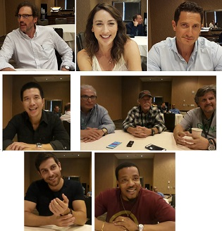 Top: Silas Weir Mitchell, Bree Turner, and Sasha Roiz. Middle: Reggie Lee, and (L-R) Norberto Barba, Executive Producer / Director; Jim Kouf, Executive Producer / Writer; David Greenwalt, Executive Producer / Writer Bottom: David Giuntoli and Russell Hornsby