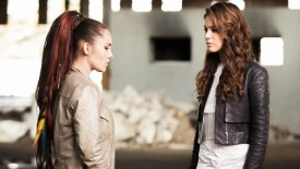 Zoe and Claire face off with words of peace...for a couple of minutes