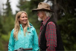 Singer Jewel (aka Jewel Kilcher) returns to her family home. (L-R) Jewel with her father Atz Kilcher.