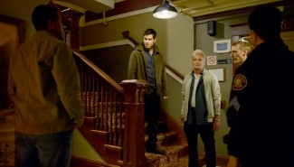 Nick, Hank, and Wu investigate another incident at the Englewood hotel -- (Photo by: Allyson Riggs/NBC)